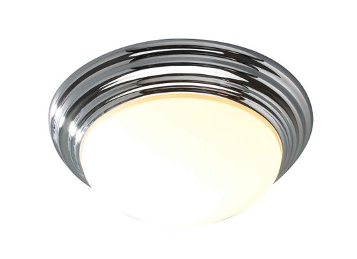 Barclay Polished Chrome IP44 Small Flush Ceiling Light