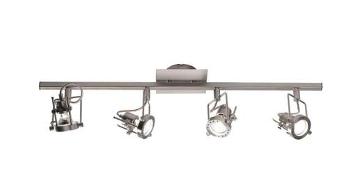 Bauhaus 4 Spot Light Satin Chrome Bar Ceiling Light