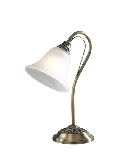Boston Antique Brass with Glass Table Lamp