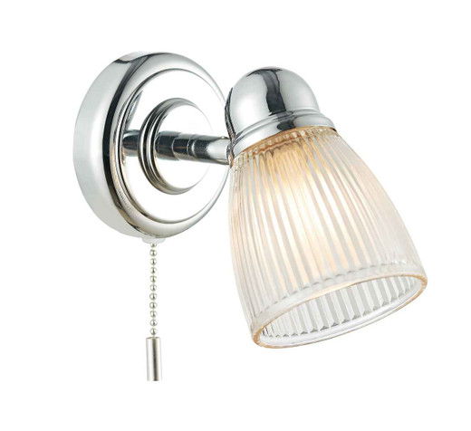 Cedric Polished Chrome IP44 Bathroom Single Wall Light