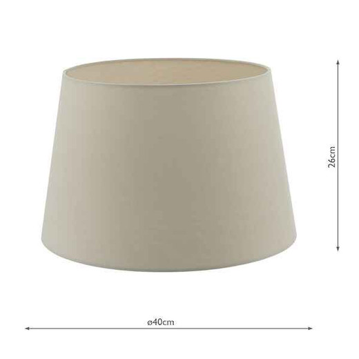 Cezanne 40cm Ecru Faux Silk Tapered Drum Shade Only