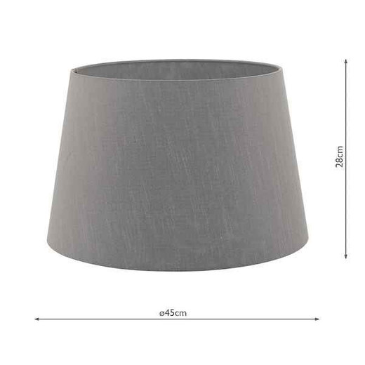 Cezanne 45cm Slate Grey Faux Silk Tapered Drum Shade Only