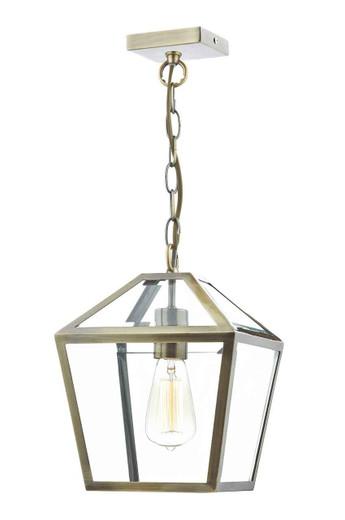 Churchill Antique Brass Pendant Light