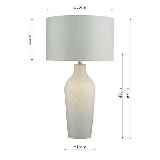 Cibana White with Shade Dual Source Table Lamp