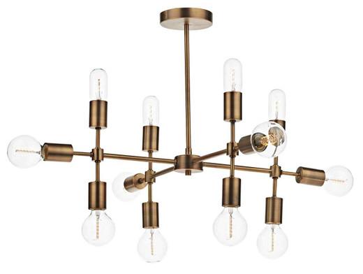 Code 12 Light Old Gold Cluster Pendant Light