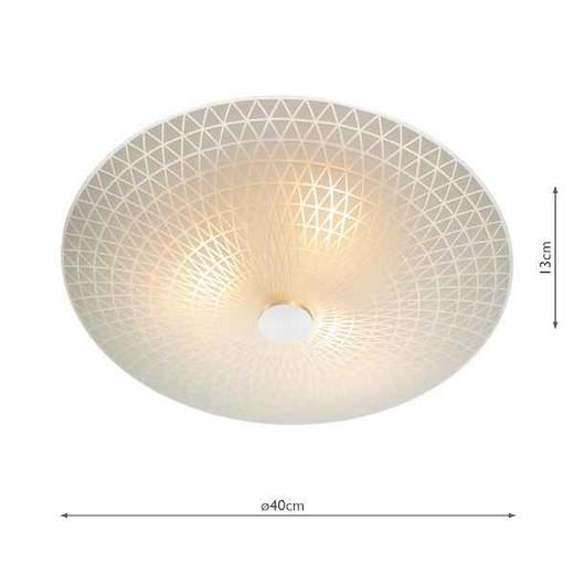 Colby 3 Light Glass Flush Ceiling Light