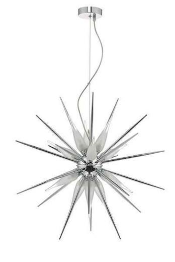 Vasiliy 12 Light Polished Chrome and Opal Glass Pendant Light