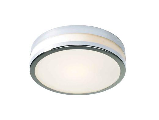 Cyro Polished Chrome Small IP44 Flush Ceiling Light