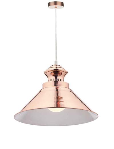 Dauphine Copper Industrial Pendant Light