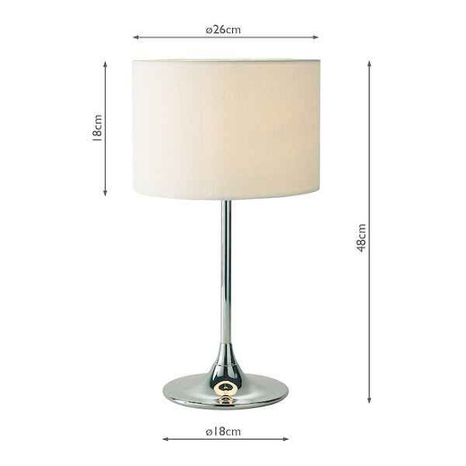 Delta Chrome with Ivory Woven Shade Table Lamp