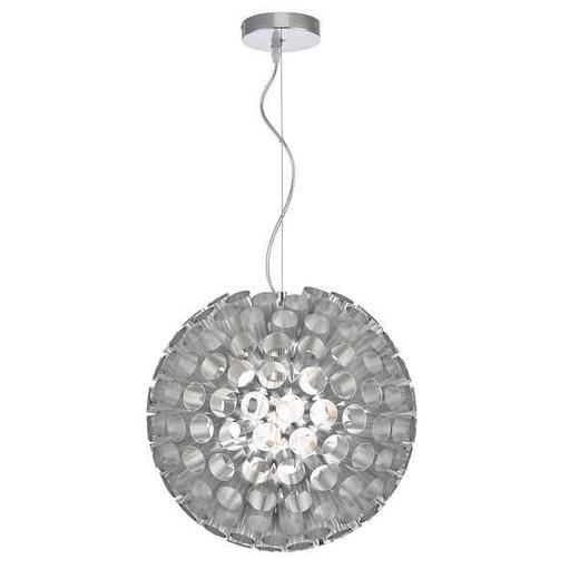 Serafina 1 Light Brushed Chrome Small Ball Feature Pendant Light