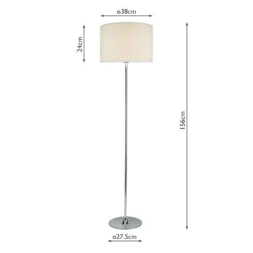 Delta Polished Chrome with Shade Floor Lamp
