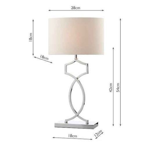 Donovan Polished Chrome with Shade Table Lamp