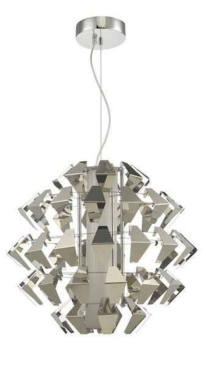 Falcon Polished Chrome and Textured Polished Chrome LED Pendant Light