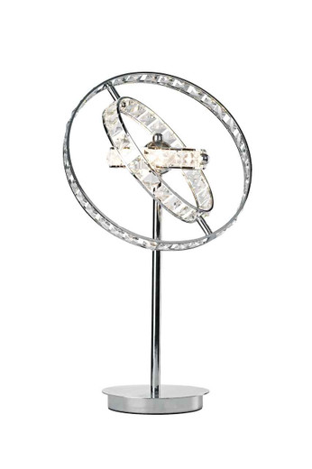 Eternity 4 Light Polished Chrome and Faceted Silver Table Lamp