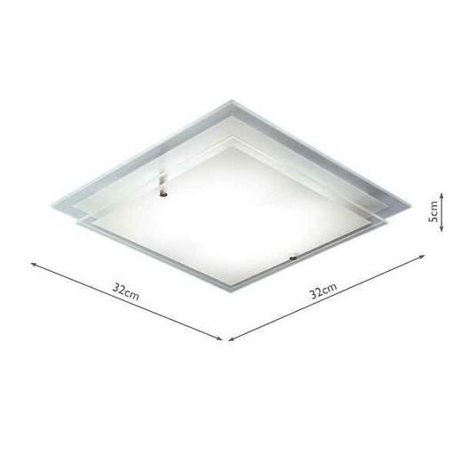 Frame Square Halogen 2 Sheets Flush Ceiling Light