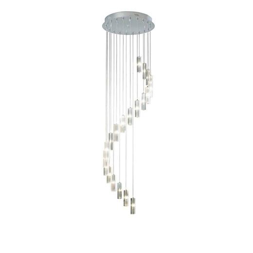 GALILEO 20lt Polished Chrome LED Pendant Light 3mtr