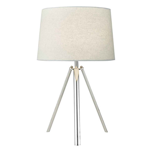 Griffith Polished Chrome with Shade Table Lamp