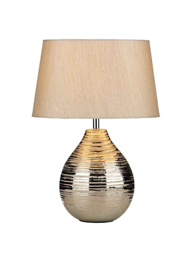 Gustav Small Silver with Shade Table Lamp