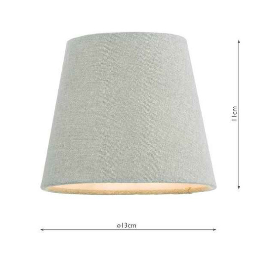 Grey 13cm Linen Tapered Drum Shade Only