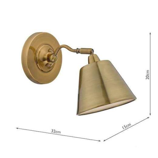 Kempten Antique Brass Wall Light