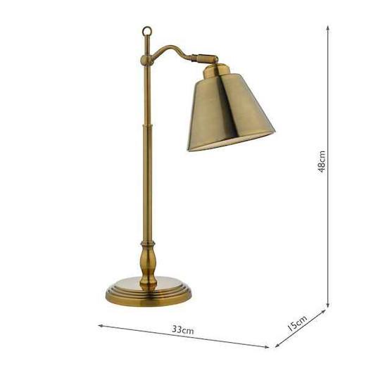 Kempten Antique Brass Task Table Lamp