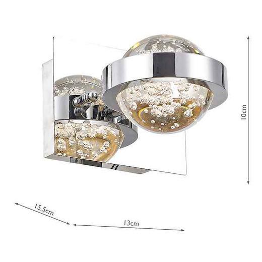 Livia Polished Chrome and Glass LED Wall Light