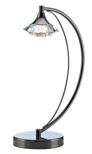 Luther 1 Light Black Chrome Crystal Table Lamp