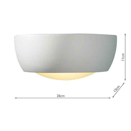 Milo Small White Plaster Wall Washer Light