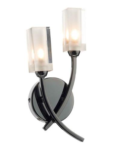 Morgan Black Chrome Double Wall Light