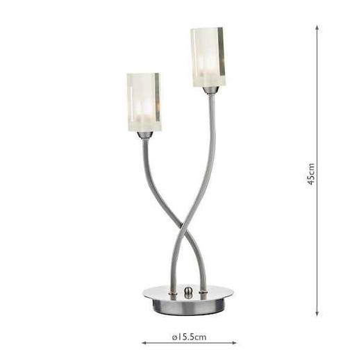 Morgan 2 Light Satin Chrome Table Lamp
