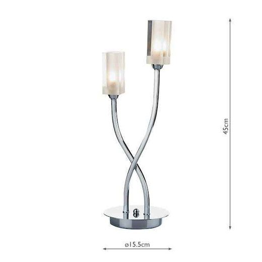 Morgan 2 Light Polished Chrome Table Lamp
