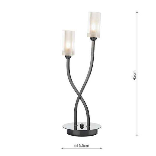 Morgan 2 Light Black Chrome Table Lamp