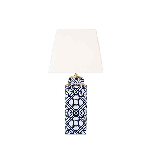 Mystic Blue And White Table Lamp Base Only