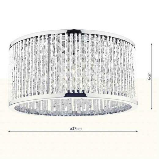Nantes 3 Light Polished Chrome Aluminium Flush Ceiling Light