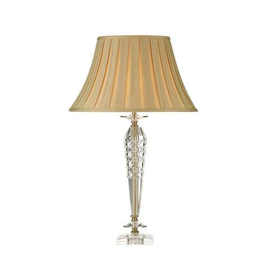 Nell Clear Glass with Shade Table Lamp
