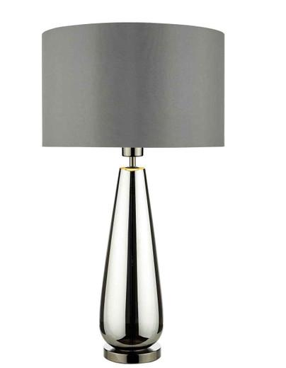 Pablo Black Chrome Base with Smoked Grey Shade Table Lamp