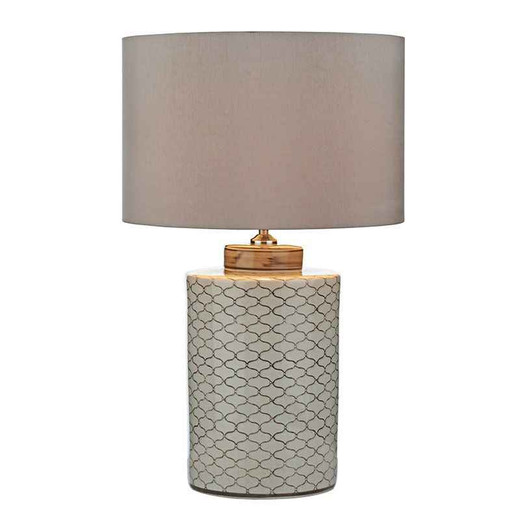 Paxton Cream Brown Table Lamp Base Only