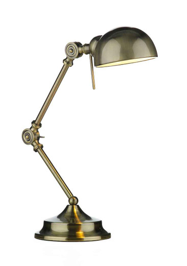 Ranger Antique Brass Table Lamp Adjustable Task Light