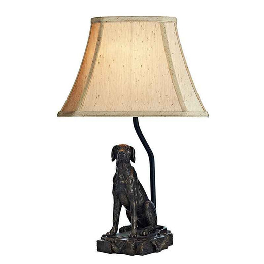 Rover Bronze Dog with Shade Table Lamp