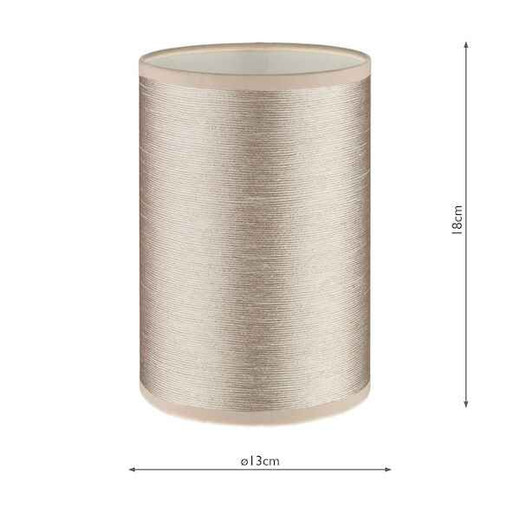 Tuscan with String Taupe Shade 13CM Wall Light