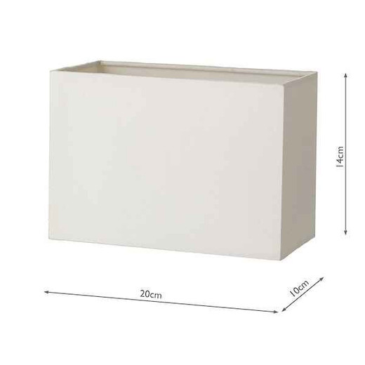 Modena Ivory Cotton Rectangle Shade Only