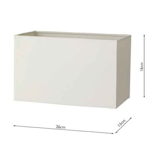 Trieste Rectangle with Ivory Polycotton Shade Table Lamp
