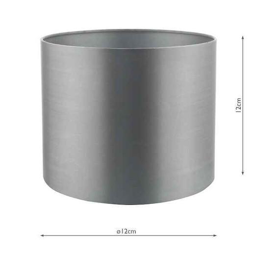 Hilda 12cm Grey Faux Silk Shade only