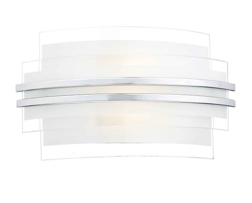 Sector Double Trim Small LED Wall Light