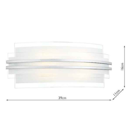 Sector Double Trim Large LED Wall Light