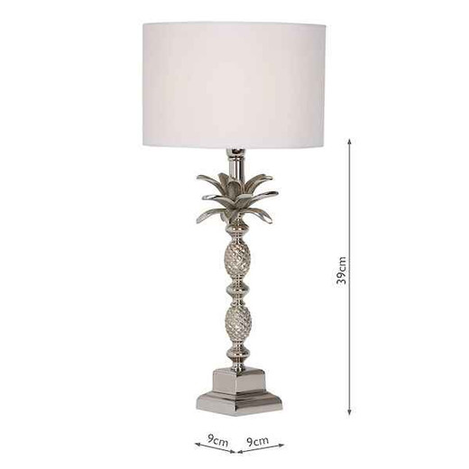 Sibilla Large Nickel Table Lamp Base Only