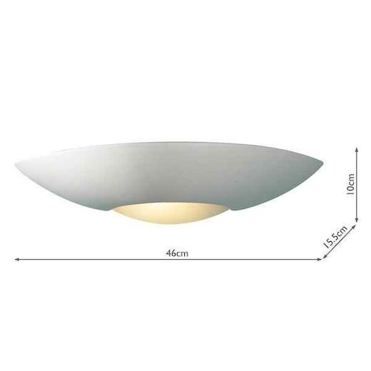 Slice Unglazed Plaster Uplighter Wall Light