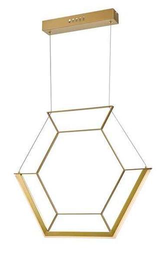Hexagon Gold LED Pendant Light