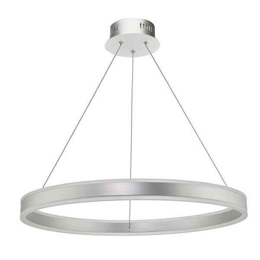 Tybalt Silver and Acrylic LED Pendant Light